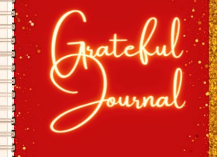 Grateful Journal or Planner Gold and Red Glitter ($15 /$17)