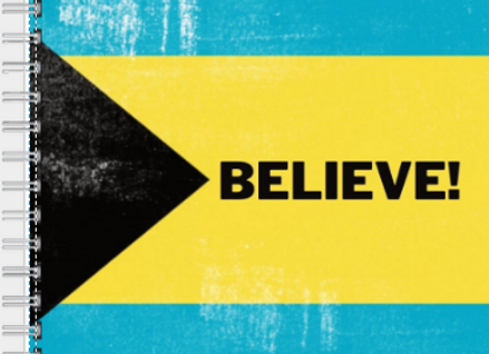 Believe Bahamas Journal or Planner ($15 /$17)