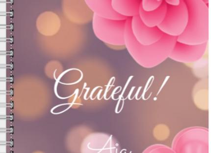 Grateful Fuchsia Flower Journal or Planner ($15 /$17)