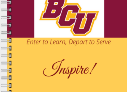 BCU Inspire Journal or Planner ($15 /$17)