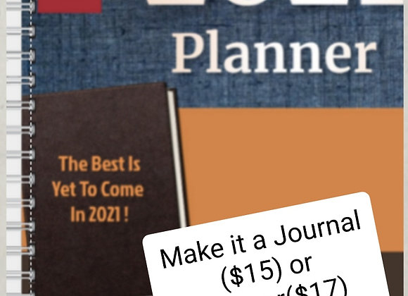 Journal or Planner  Brown and Blue ($15 /$17)