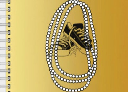Chucks and Pearls Black & Gold Inspire! Journal or Planner ($15 /$17)