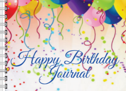 Happy Birthday Journal Balloons & Confetti Journal or Planner ($15 /$17)