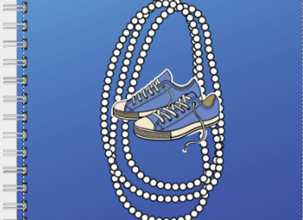 Chucks and Pearls Blue & White Inspire! Journal or Planner ($15 /$17)