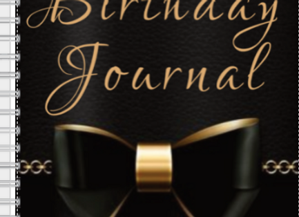 Happy Birthday Black Bow Journal or Planner ($15 /$17)