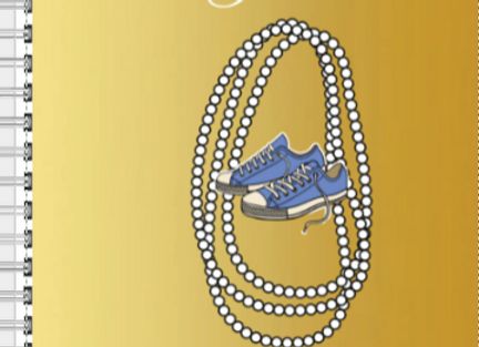 Chucks and Pearls Gold & Blue Inspire! Journal or Planner ($15 /$17)
