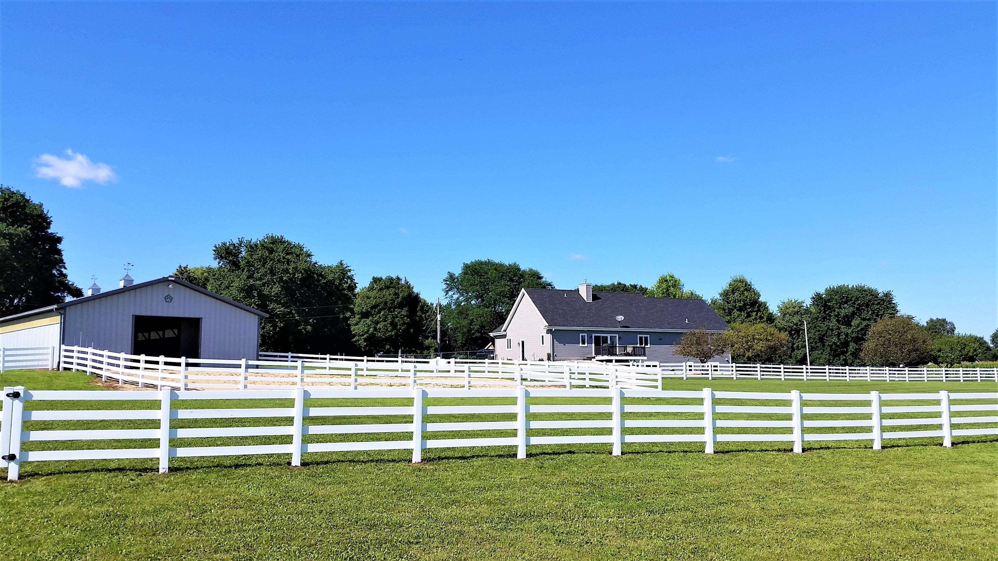 3 Rail Vinyl Fence Horse Farm - Behl Fence LLC