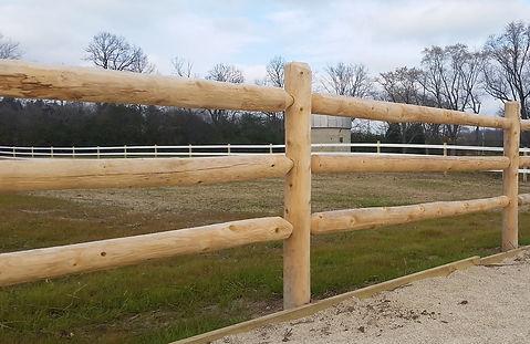 Cedar Round Rail Horse Fence - Behl Fence Wisconsin