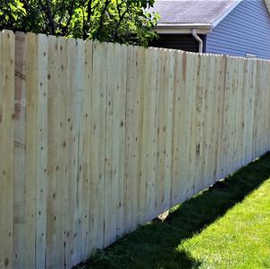 Privacy Fence - Cedar Board on Board - B