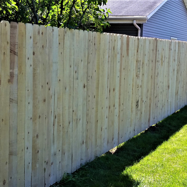 Privacy Fence - Cedar Board on Board - B