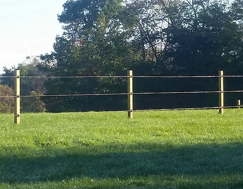 Polymer Coated Wire Horse Fence - Behl Fence Installation Wisconsin