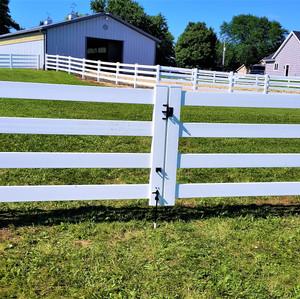 3 Rail Double Vinyl Gate - Behl Fence LL
