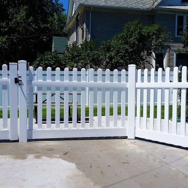 Straight Picket Fence - Installed over C