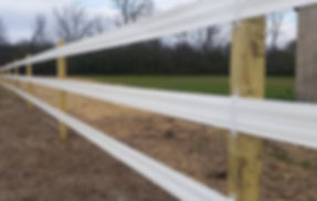 Flexible Rail Horse Fence - Behl Fence Installation Wisconsin