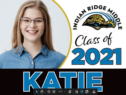 8th Grade Lawn Sign (with Student Name & Picture)