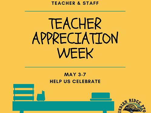 Teacher Appreciation Raffle (May 3-7)