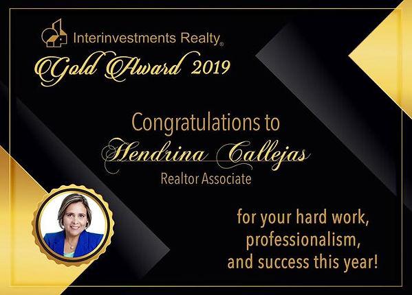 Reconocimiento Hendrina Callejas 2019