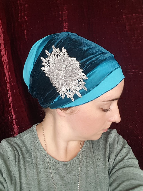 Teal, turquoise and velvet sinar