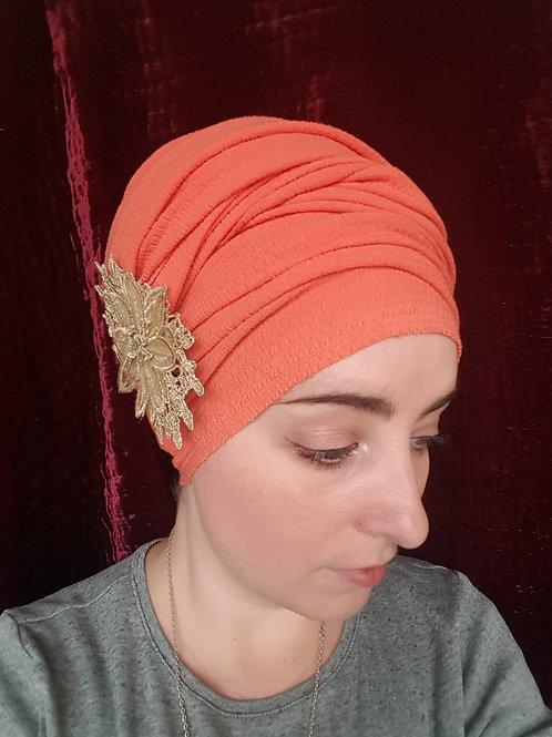 Extra long textured coral jersey scarf