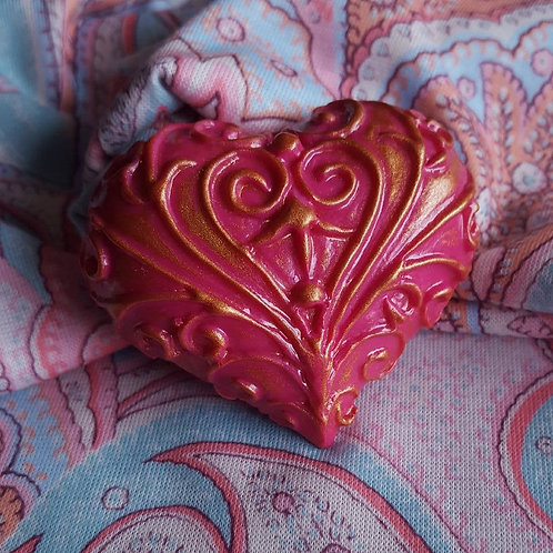 Large wrought iron heart clip