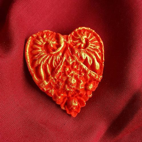 Winged heart pin