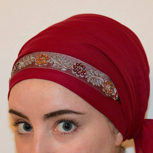 Purple and silver headband