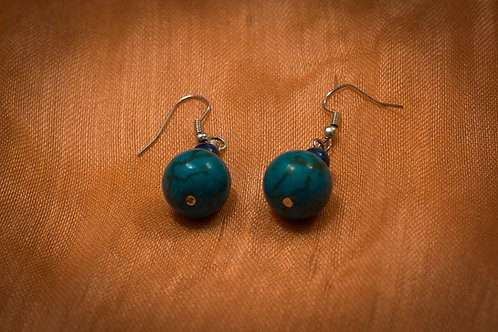 Turquoise and Lapis Lazuli earrings