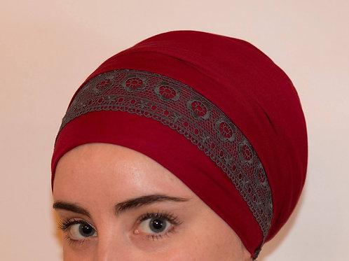 Grey lace headband