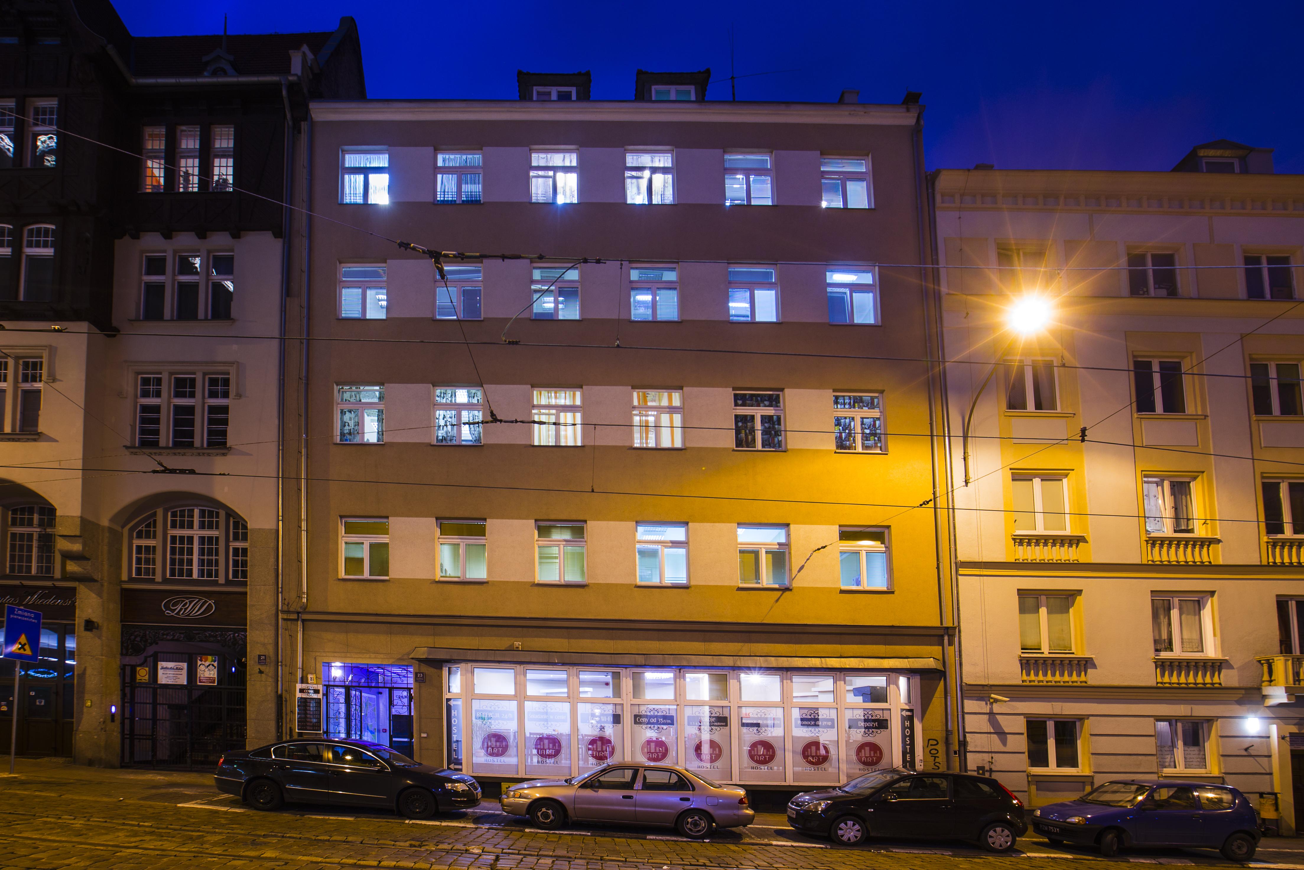 ART Hostel Pozań - z zewnątrz