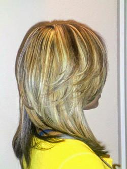 Flaxen Blonde Highlights