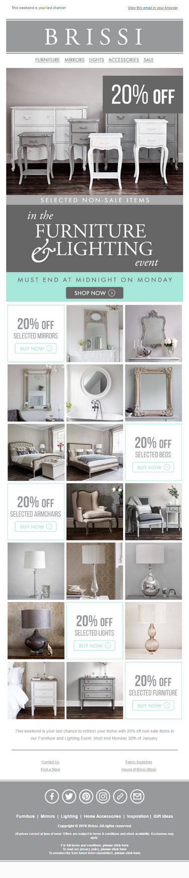 Brissi - 20% Off Furniture