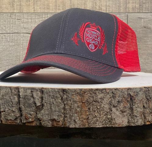 RED LABEL LOGO TRUCKER HAT