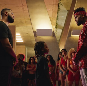 "Drake & Chris Brown Classic Dance Battle In ""No Guidance"" Video"