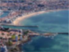 vue aérienne des Sables d'Olonne