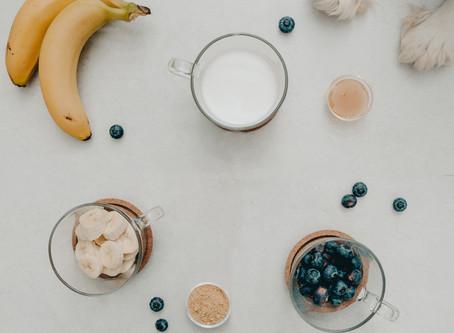 Healthy kefir smoothie