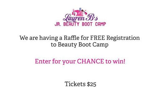 Jr. Beauty Boot Camp Raffle Ticket
