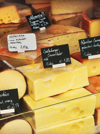 Cheeses on the market