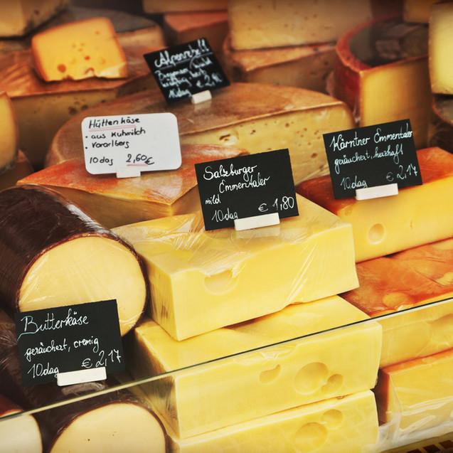 Käse auf Markt