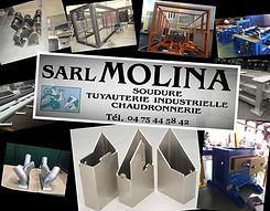 sarl molina, chaudronnerie, tuyauterie, serrurerie, sarl molina et fils, ets molina, ets molina et fils