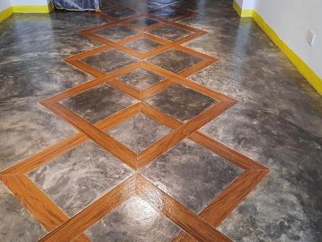 Industrial Look Cement Floor.