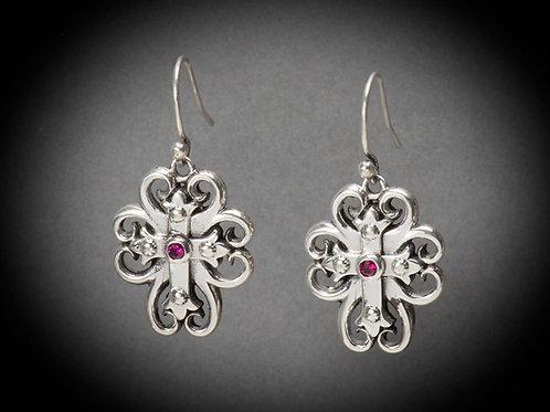 Sterling Silver Spirit Cross Earrings