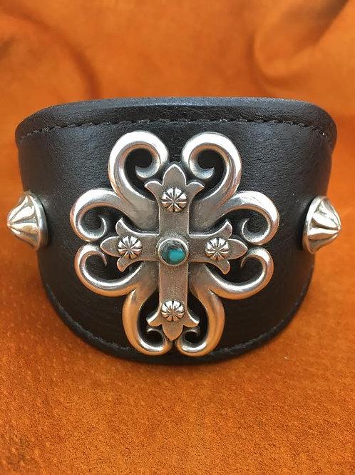 Sterling Silver Spirit Cross Cuff (Small)