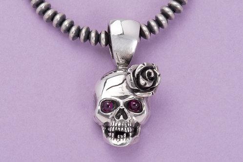 "Silver ""Senorita"" Skull Pendant"