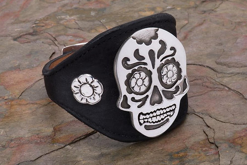 Day of the Dead Sterling Silver Cuff
