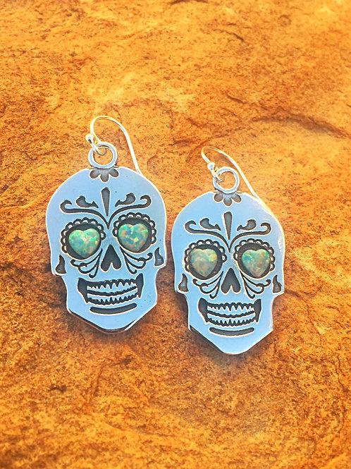 ''Day of the Dead''Sterling Silver earrings