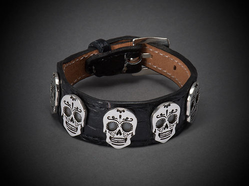 "Sterling Silver Skull ""Day of the Dead"""