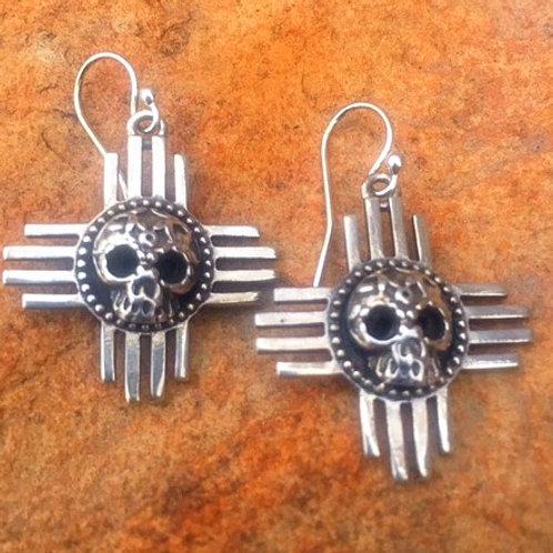 Zia Skull Earrings