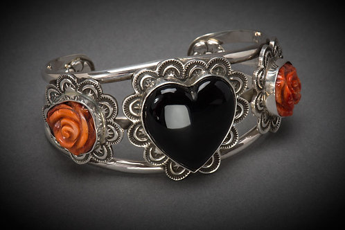 "Onyx and Sterling Silver ""Senorita"" Bracelet"