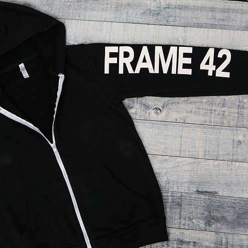 Frame 42 Zip Up Hoodie w/Sleeve Logo