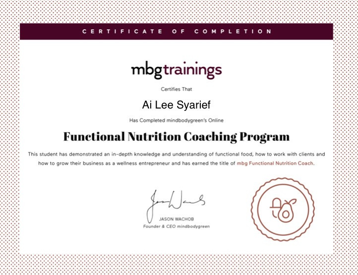mbg - Functional Nutrition Coach